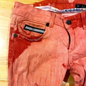 Rockstar sushi distressed red jeans size 25